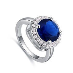 Pretty Alloy/Crystal With Crystal Rings