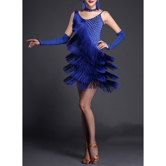 Women's Dancewear Polyester Latin Dance Dresses (115087955)