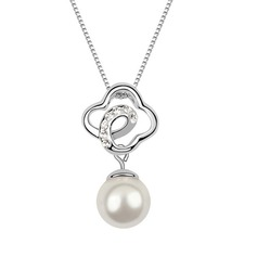 Attractive Platinum Plated With Pearl Ladies' Necklaces