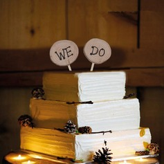 Letter Wood Cake Topper (4 Pieces)