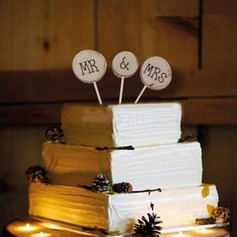 Letter Wood Cake Topper (6 Pieces)
