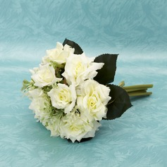 Graceful Hand-tied Satin Bridesmaid Bouquets (123032411)