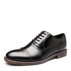 Men's Real Leather Cap Toes Dress Shoes Men's Oxfords