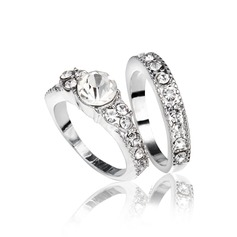 Fashional Alloy/Platinum Plated Ladies' Rings