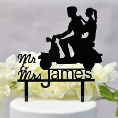 Personalized Classic Couple/Sweet Love/Mr. & Mrs. Acrylic Cake Topper (Sold in a single piece)