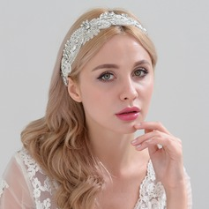 Ladies Glamourous Satin Headbands With Rhinestone (Sold in single piece)