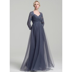 A-Line/Princess Sweetheart Floor-Length Tulle Mother of the Bride Dress With Ruffle
