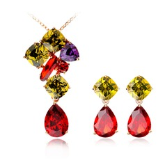 Exquisite Copper/Gold Plated/Cubic Zirconia Women's Jewelry Sets