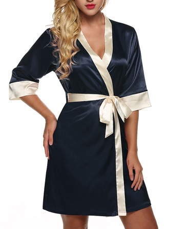 Bride Bridesmaid Silk With Short Satin Robes