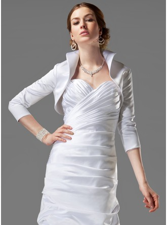 3/4-Length Sleeve Satin Wedding Wrap