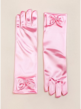 Elastic Satin Flower Girl Gloves