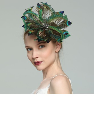 Dames Glamour/Élégante/Fantaisie Feather avec Feather Chapeaux de type fascinator