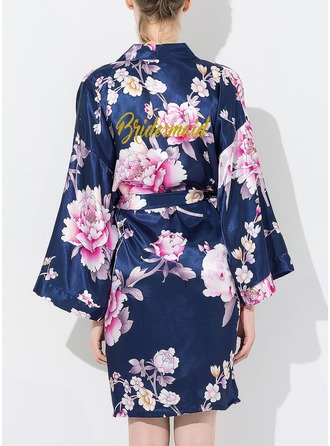 Bridesmaid Silk Floral Robes