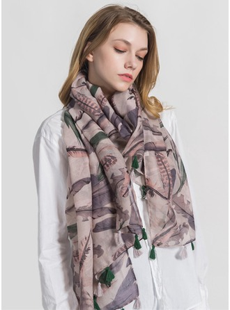 Floral Oversized/fashion Polyester Scarf