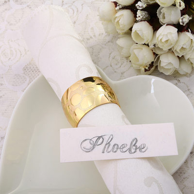 Groom Gifts - Modern Alloy Napkin Ring (Sold in a single piece)