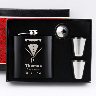 Groomsmen Gifts - Personalized Classic Fashion Stainless Steel Flask