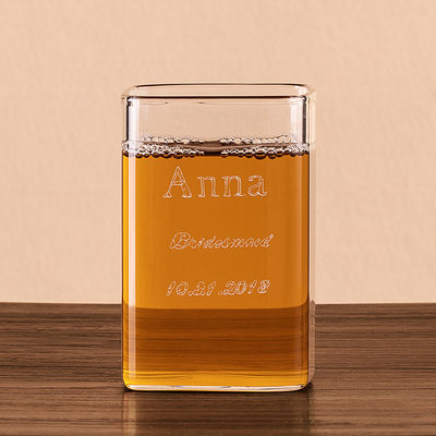 Bridesmaid Gifts - Personalized Beautiful Glass Glassware and Barware