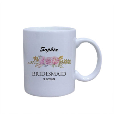 Bridesmaid Gifts - Personalized Fashion Keramik Mug