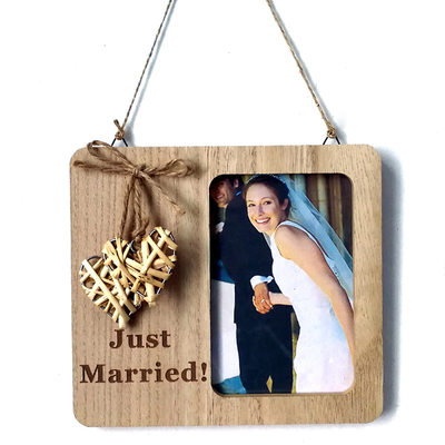 Groom Gifts - Solid Color Wooden Photo Frame