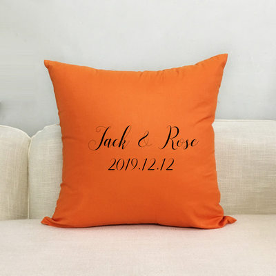Groom Gifts - Personalized Solid Color Polyester Pillowcase
