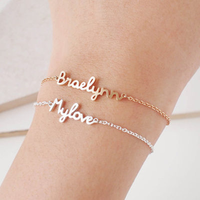 Bridesmaid Gifts - Personalized Elegant Vintage Alloy Bracelet