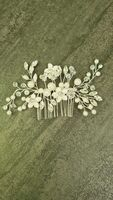 Ladies Elegant Crystal/Imitation Pearls/Glass Combs & Barrettes With Venetian Pearl/Crystal (Sold in single piece) (042236878)