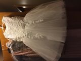 A-Line/Princess Knee-length Flower Girl Dress - Organza/Tulle Sleeveless Scoop Neck With Beading/Bow(s) (010130901)