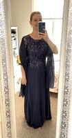 A-Line Scoop Neck Floor-Length Chiffon Lace Mother of the Bride Dress (008256347)