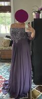 A-Line Off-the-Shoulder Floor-Length Chiffon Evening Dress With Beading Sequins Split Front (017198675)