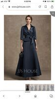 A-Line V-neck Ankle-Length Satin Mother of the Bride Dress With Bow(s) (008257984)
