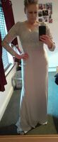 Trumpet/Mermaid V-neck Sweep Train Jersey Evening Dress With Sequins (271260387)
