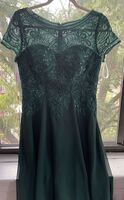 A-Line Scoop Neck Knee-Length Chiffon Lace Bridesmaid Dress With Sequins (007255083)