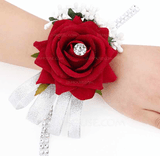 Simple And Elegant Rosy Fabric Wrist Corsage (Sold in a single piece) - Wrist Corsage (123131830)