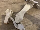 Women's Leatherette Chunky Heel Sandals Beach Wedding Shoes With Applique (047238555)