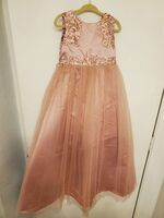 Ball-Gown/Princess Floor-length Flower Girl Dress - Satin/Tulle/Lace Sleeveless Scoop Neck With Beading/Sequins (010225300)