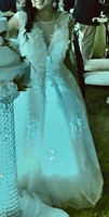 Ball-Gown/Princess Illusion Court Train Tulle Wedding Dress (002186394)
