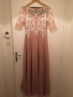 A-Line V-neck Floor-Length Chiffon Prom Dresses With Split Front (018221173)