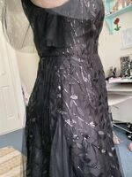 A-Line V-neck Floor-Length Tulle Evening Dress With Lace Sequins (017254992)