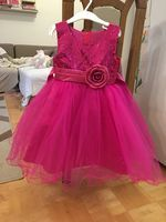 Ball-Gown/Princess Knee-length Flower Girl Dress - Tulle/Sequined/Cotton Blends Sleeveless Scoop Neck With Flower(s) (010087445)