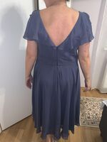 A-Line V-neck Asymmetrical Cocktail Dress With Ruffle (016258419)