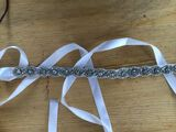 Beautiful Satin Sash With Rhinestones (015080154)