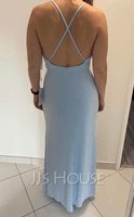 Jersey Prom Dresses With Ruffle (272194745)