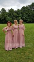 Floor-Length Chiffon Bridesmaid Dress With Cascading Ruffles (266195844)