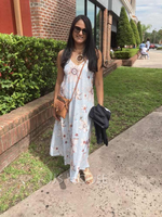 Floral Print Shift Spaghetti Straps Sleeveless Maxi Casual Vacation Type Dresses (294257373)