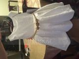 A-Line/Princess Knee-length Flower Girl Dress - Lace Sleeveless Scoop Neck With Lace/Bow(s) (010103722)