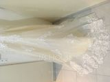 Trumpet/Mermaid Illusion Court Train Tulle Wedding Dress With Beading Sequins (002145316)