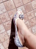 Women's Silk Like Satin Low Heel Peep Toe With Stitching Lace Others (273204747)