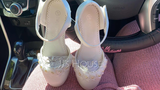 Girl's Closed Toe Silk Like Satin Low Heel Pumps Flower Girl Shoes With Velcro Flower (207150974)