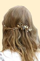 Ladies Beautiful Imitation Pearls Combs & Barrettes With Venetian Pearl (Set of 3) (042253787)