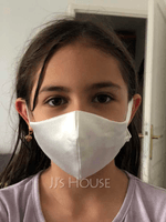 Kids' Non-Medical Satin Reusable Face Masks With Adjustable Loop (301253045)